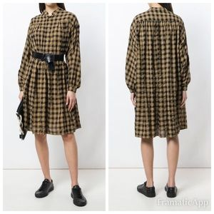 Aspesi Oversized Brown Check Shirt Dress size 4